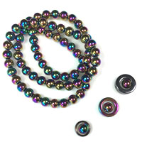 6mm Hematite, Rainbow Hematite, and Pearlescent Hematite Beads for Square Knot Bracelet Designs and More