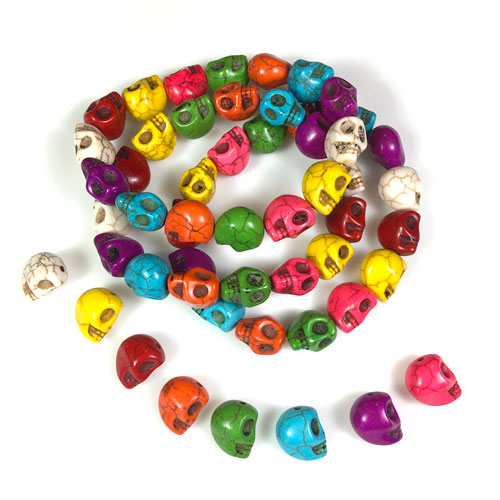 Calavera Skull Beads to make Dancing Skeleton Jewelry