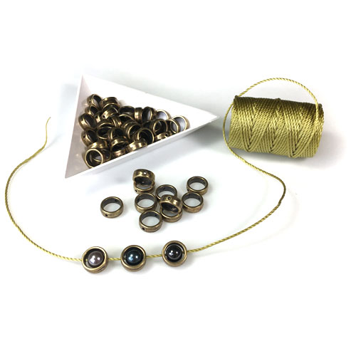 Halo Round Beads - Perfect Surrounds for 6mm Beads and for Squae Knot Bracelet Designs