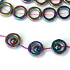 12mm Hematite and Rainbow Hematite Ring Beads for Square Knot Bracelet Designs