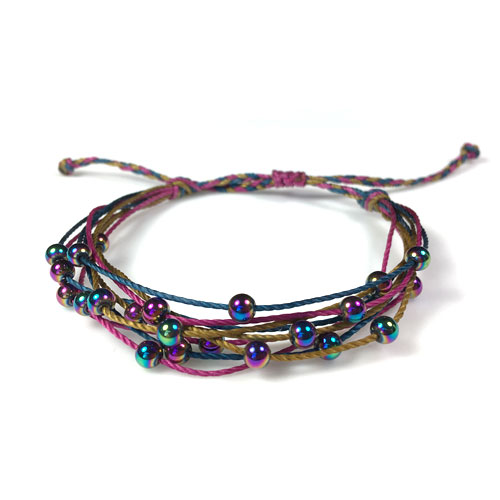 Multi Strand Bracelets with Floating Beads