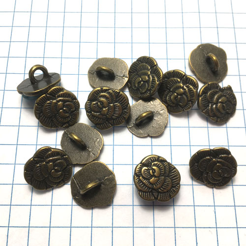 Rose Metal Button for Jewelry