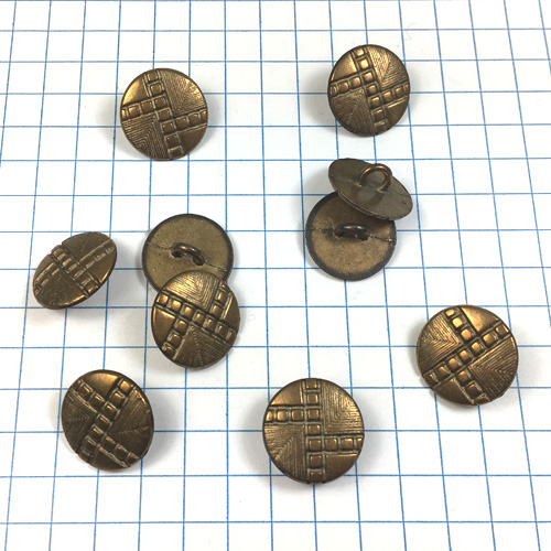 Brass Button with Screws for Jewelry
