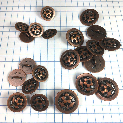 Bell Flower Copper Button for Jewelry