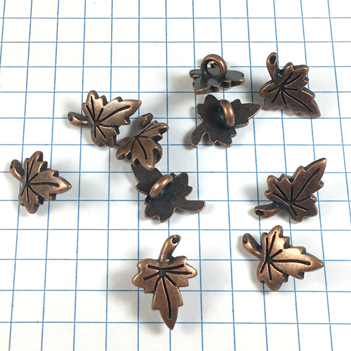 Maple Leaf Copper Button for Jewelry