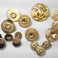 Gold Shank Metal Buttons for Jewelry