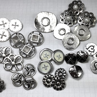 Silver Metal Shank Buttons for Jewelry & More