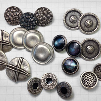 Silver Shank Metal Buttons for Jewelry
