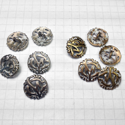 Antique Filigree Metal Finish Button for Jewelry
