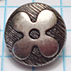 Flower Metal Button