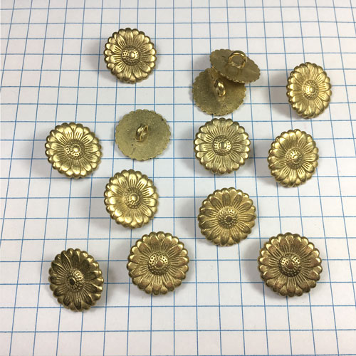 Brass Metal Buttons for Jewelry