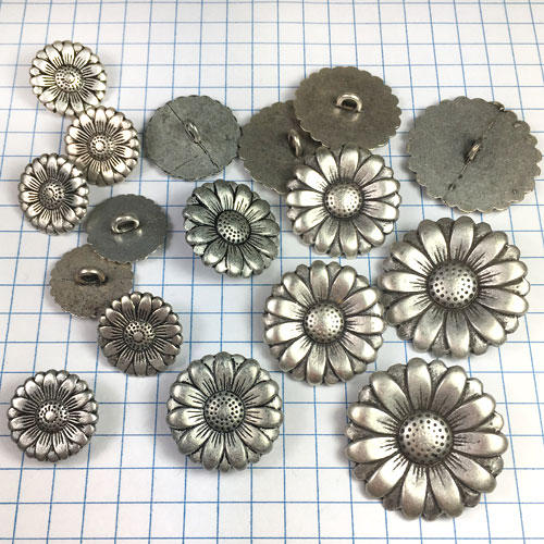 Metallic Button for Jewelry