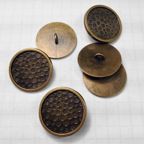 Antique Brass Metal Button for Jewelry