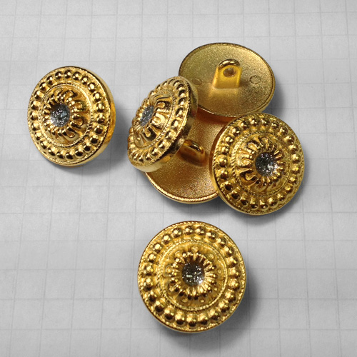 Metal shank buttons for jewelry gold finishes for Buttons with shanks for jewelry