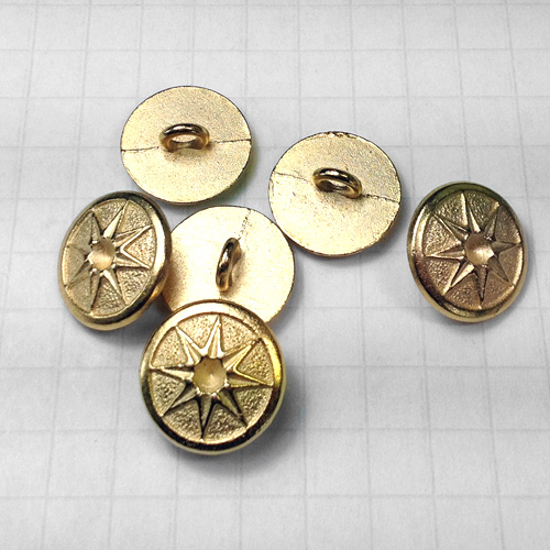 Gold 8 Point Star Metal Buttons for Jewelry