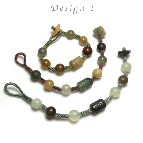 Crown Knotting & Fiber Endings Bracelet Kit & Tutorial Kits - Design 1