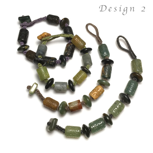 Crown Knotting & Fiber Endings Bracelet Kits - Design 2