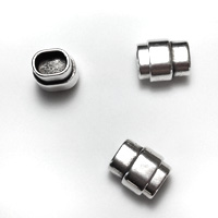 European Zamack Magnetic End Clasps for Kumihimo