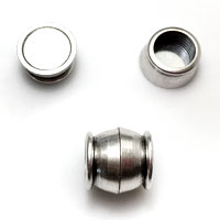 Barrel, Bamboo and Stainless Steel Magnetic Clasps