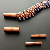 Antique Copper Magnetic End Clasps for Kumihimo