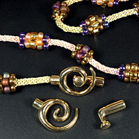Gold & Silver Tone End Clasp perfect for Cord & Kumihimo BraidsKumihimo Kits