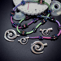 Spiral End Clasps for Kumihimo