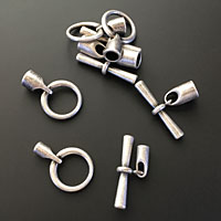 Antique Silver Toggle End Clasps for Kumihimo
