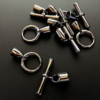 Black Oxide Toggle End Clasps for Kumihimo