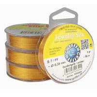 Griffin Jewelry Silk - 100%  Beading Silk on Spools