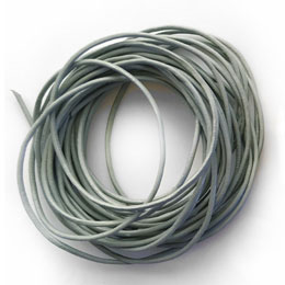 Grey Leather Cord for Jewelry