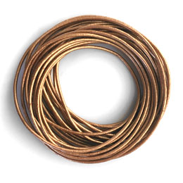 Metallic Leather Cord for Jewelry