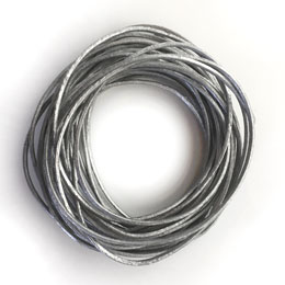 Metallic Silver Leather Cord