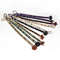 Wrap Leather Bracelets with Tila Beads