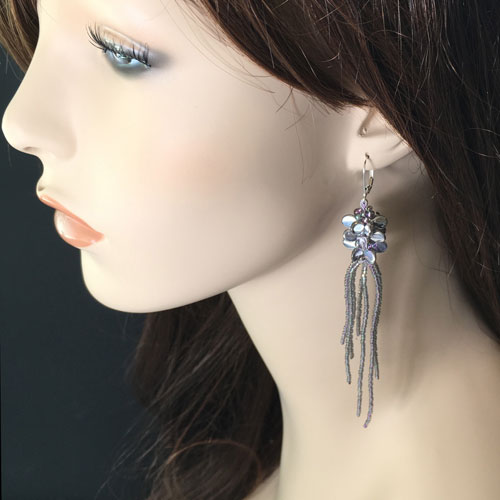 Kumihimo Jellyfish Earring Kit with PIP Beads and a Beaded Tassel