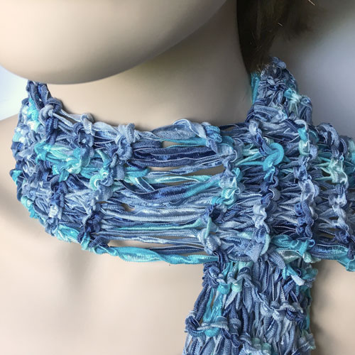 Silk Ribbon Knit Scarf Free Tutorial