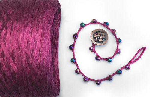 Silk Tape for Jewelry Making, Crochet, and Multi Strand Bracelets and Necklaces