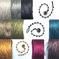 Silk Tape for Jewelry Making, Crochet, and Multi Strand Bracelets and Neclaces