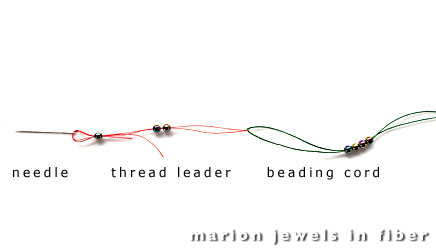 Thread Leader for Bead Stringing